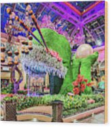 Bellagio Conservatory Spring Display Front Side View Wide 2018 2 To 1 Aspect Ratio Wood Print