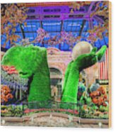 Bellagio Conservatory Spring Display Ultra Wide Trees 2018 2 To 1 Aspect Ratio Wood Print
