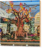 Bellagio Enchanted Talking Tree Ultra Wide 2018 2 To 1 Aspect Ratio Wood Print