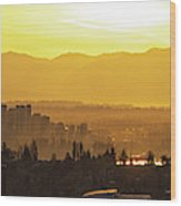 Bellevue Eastside Morning Light Atmosphere Wood Print