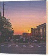 Bellingham Sunset Wood Print