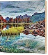 Belluno Mountains Wood Print
