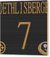 Ben Roethlisberger Jersey Wood Print