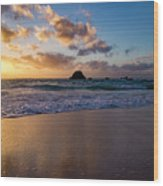 Bermuda Beach Sunrise Wood Print
