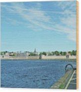 Berwick Upon Tweed, River And City Walls Wood Print