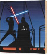 Bespin Duel Wood Print