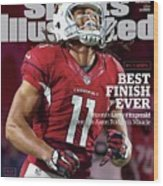 Best Finish Ever Arizonas Larry Fitzgerald One-ups Aaron Sports Illustrated Cover Wood Print