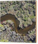 Betsie River Curve Wood Print