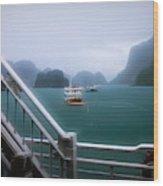Bhaya Cruise Line Ha Long Bay  Wood Print