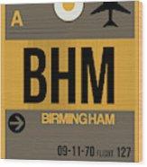 Bhm Birmingham Luggage Tag I Wood Print
