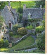 Bibury Cottages Wood Print
