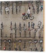 Bicycle Park At Boon Lay Mrt Station Wood Print