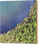 Big Bay Bear Lake Aerial Wood Print