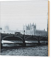 Big Ben And Houses Of Parliament In The Wood Print