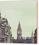 Big Ben As Seen From Trafalgar Square Wood Print