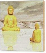 Big Buddha, Little Buddha Wood Print