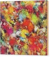 Big Colour Storm Wood Print