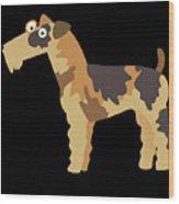 Big Fox Terrier Wood Print