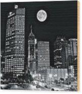 Big Moon Indianapolis 2019 Wood Print
