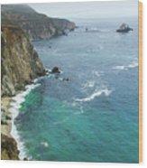 Big Sur Ocean Views Wood Print