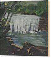 Big Waterfall Wood Print
