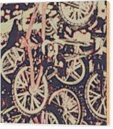 Bike Mountain Wood Print