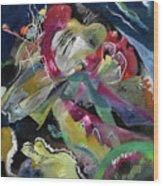 Bild Mit Weissen Linien - Painting With White Lines Wood Print