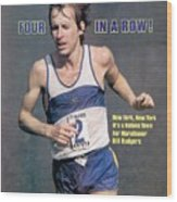 Bill Rogers, 1979 New York City Marathon Sports Illustrated Cover Wood Print