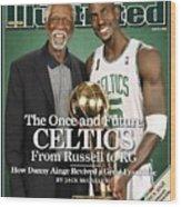 Bill Russell And Boston Celtics Kevin Garnett, 2008 Nba Sports Illustrated Cover Wood Print
