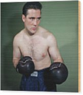 Billy Conn Posing In Boxing Attire Wood Print