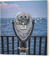 Binocular Viewer Wood Print
