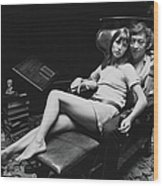 Birkin And Gainsbourg Wood Print