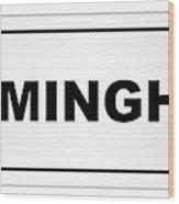 Birmingham City Nameplate Wood Print