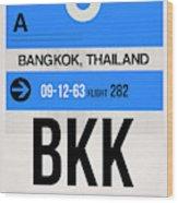 Bkk Bangkok Luggage Tag II Wood Print