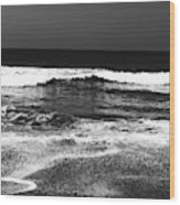 Black And White Beach 7- Art By Linda Woods Wood Print