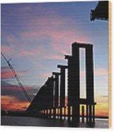 Black River Bridge Wood Print