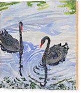Black Swans - Soulmate Wood Print