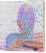 Black-tailed Jackrabbit Wood Print