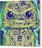 Creature From The Black Lagoon Pop Wood Print