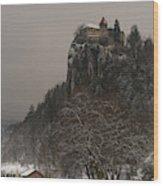 Bled Castle Wood Print