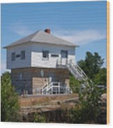 Blockhouse At Kingston Mills On The Rideau Canal Wood Print