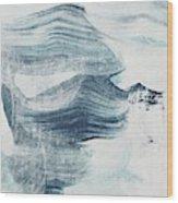 Blue #1 Wood Print