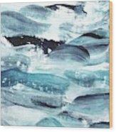 Blue #10 Wood Print