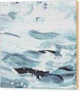 Blue #11 Wood Print