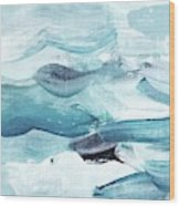 Blue #14 Wood Print