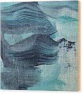 Blue #3 Wood Print
