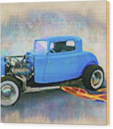 Blue 32 Ford Coupe Wood Print