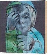 Blue Anorak Wood Print