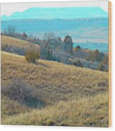 Blue Butte Prairie Reverie Wood Print
