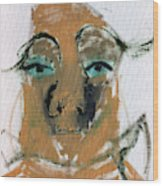 Blue Eyed Man Wood Print